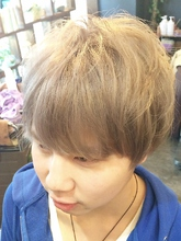 マッシュレイヤー×パールアイスブルー|Ricca hairのメンズヘアスタイル