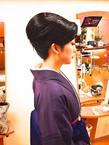 和髪で卒業式