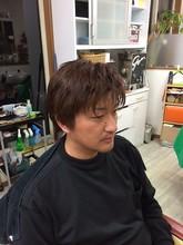 ナチュラルミディアムショ−ト|理容・美容スペース シグマのメンズヘアスタイル