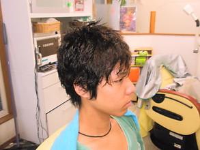 ワイルド系ナチュラルパ−マスタイル|理容・美容スペース シグマのメンズヘアスタイル