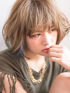 ブリーチオンカラーのボブスタイル|hair salon La chouchouのヘアスタイル