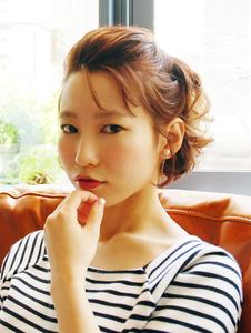 【MRK】大人ラフアレンジ☆透明感×赤リップxシースルーバング|MRK Hair & Makeのヘアスタイル