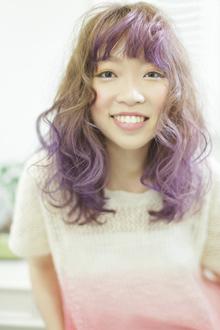 パープルグラデーション♪|Pilinaのヘアスタイル