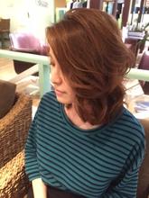 ふんわりミディ|K's Hair 北習志野店のヘアスタイル