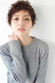アシメバング☆大人かわいいショートスタイル|The C by afloatのヘアスタイル