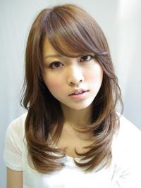 美人ヘア☆流れる前髪とソフトな内巻き