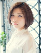 【ARISE都立大学】ヌーディーカラーで大人可愛いナチュラルボブ|ARISEのヘアスタイル