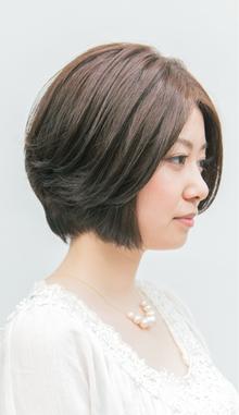【ARISE 都立大学】大人の女性のためのナチュラルショートボブ|ARISEのヘアスタイル