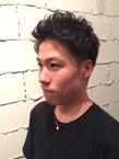 定番ツーブロックアップバングショート|ARISEのヘアスタイル