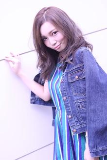 スモーキ—マルサラロング Hair Frais Make Yokohamaのヘアスタイル