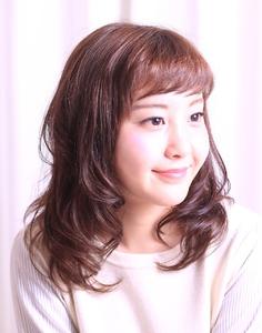 甘め☆ツヤめきカールミディ Hair Frais Make Yokohamaのヘアスタイル