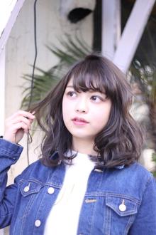 柔らかシフォンミディ Hair Frais Make Yokohamaのヘアスタイル