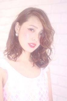 女っぽ!レイヤーロブ Hair Frais Make Yokohamaのヘアスタイル