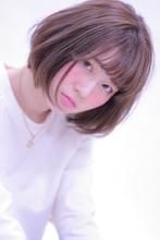 透け感とラフさが可愛い♪おフェロボブ|Hair Frais Make orkのヘアスタイル