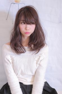 シースルーバングで叶えるゆる柔ミディ☆|Hair Frais Make Machidaのヘアスタイル