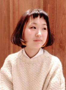 シースルーバング☆やわふわボブ♪|Hair Frais Make Machidaのヘアスタイル