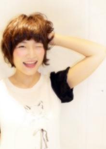 柔らかカールのマニッシュショートボブ|Hair Frais Make Machidaのヘアスタイル