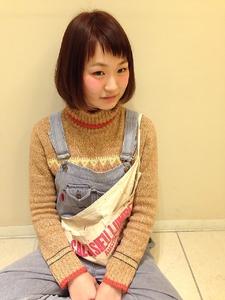 シースルーバングショートボブ|Hair Frais Make Machidaのヘアスタイル