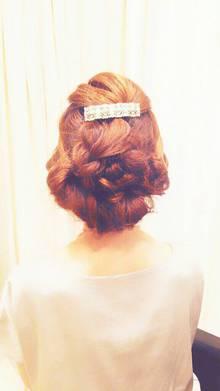 アンティークダウン編み込み|Hair Frais Make Machidaのヘアスタイル