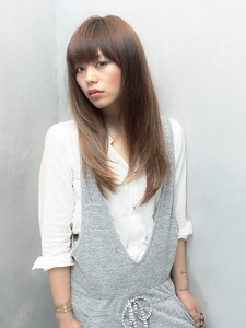 ☆COCO☆ナチュラルストレート|美容室COCO design 清澄白河店のヘアスタイル
