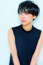 ☆黒髪でオシャレショート☆|hair design cheerful 原田 優太のヘアスタイル