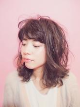 サンドグレージュ☆フレンチミディ|Hair Milkのヘアスタイル