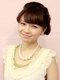 編み込み×シニヨン