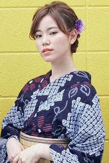 三つ編みでつくるフルアップの浴衣ヘア|atelier SUNNY DAYのヘアスタイル