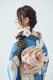 編み込みダウンスタイル × 浴衣 ヘア