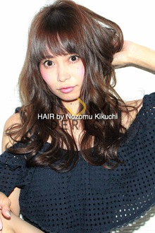 横浜美容室ラムデリカ.キクチ流シースルーバング× ロングヘア|LUMDERICAのヘアスタイル