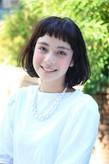 外国の子供風 ショートバングボブ|boucleのヘアスタイル