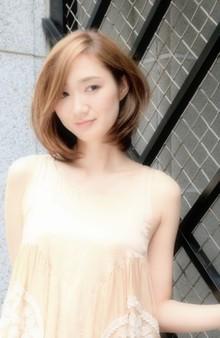 大人うるつや透け感ボブ☆ Hair Lounge Le'vieのヘアスタイル