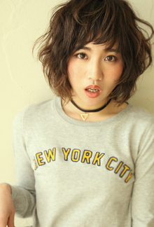 『無造作にウェットに』セミウェットウェーブショート|HAIR&MAKE SeeK 吉祥寺のヘアスタイル
