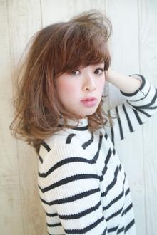 『ジンジャーカラー☆』透明感とウェーブミディ|HAIR&MAKE SeeK 吉祥寺のヘアスタイル