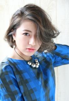 『大人かわいい』ミント系耳かけクールボブ|HAIR&MAKE SeeK 吉祥寺のヘアスタイル