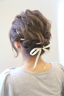 リボン編み込みルーズアップ|HAIR&MAKE SeeK 吉祥寺のヘアスタイル
