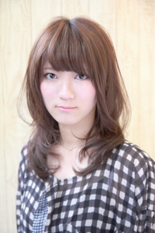『脱Aライン』ふんわりセミディ|HAIR&MAKE SeeK 吉祥寺のヘアスタイル