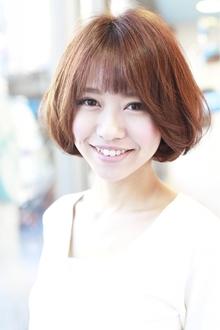 ゆるカールの透け感ボブ|Hair&Make arsのヘアスタイル