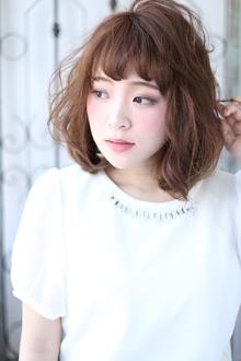 ボブ×ゆるふわパーマ|Hair&Make arsのヘアスタイル
