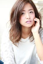 ミディアム×フェミニンパーマ|Hair&Make arsのヘアスタイル