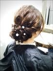 <ASH>ナチュラルヘアセットまとめ髪