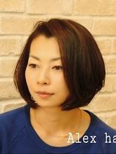 無造作 ひし形ボブ|ALex Hair conciergeのヘアスタイル