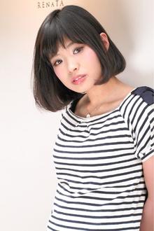 黒髪ボブ☆お手入れ簡単スタイリング 伸ばしかけヘア TAKE CARE OR RENATAのヘアスタイル