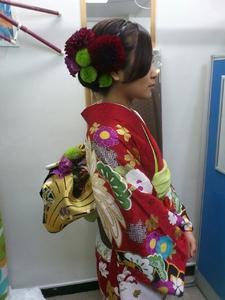 生花でセットと着付け|cocot 銀座店のヘアスタイル