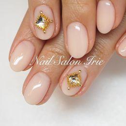 シンプルストーンネイル|Nail Salon Irieのネイル