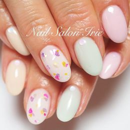 カラフルシェルネイル|Nail Salon Irieのネイル