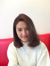 シンプルロブ|Rhizome 新小岩店のヘアスタイル