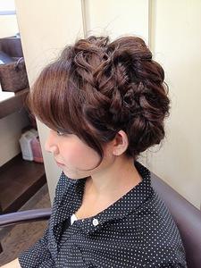 もこもこ編みこみへあ|Rhizome 新小岩店のヘアスタイル