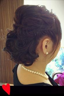 結婚式フルアップ〜フィッシュボーン〜|Hair Yielding BIKIのヘアスタイル