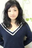 ☆黒髪ベビーバングなアンニュイカールversion☆|hair salon Reginaのヘアスタイル